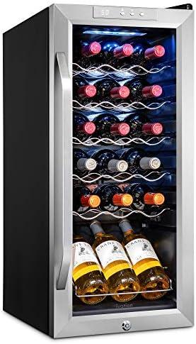 Ivation 18 Bottle Compressor Wine Cooler Refrigerator w Lock Large Freestanding Wine Cellar product image