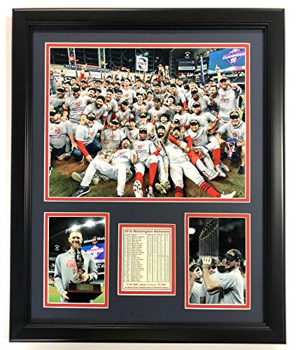 "Legends Never Die Washington Nationals - 2019 World Series Champs - Mound - 18"" x 22"" Framed Photo Collage"