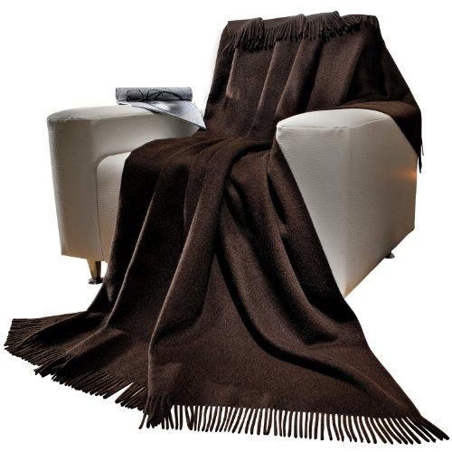 Steinbeck Plaid Yakwolle dunkelbraun Größe 140x190 cm