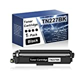 1 Pack Black TN227BK Compatible Toner Cartridge Replacement for Brother DCP-L3510CDW L3550CDW HL-3210CW 3230CDW 3270CDW 3230CDN 3290CDW MFC-L3770CDW L3730CDW L3710CW L3750CDW Series Printers
