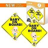 Danolt Baby an Bord Zeichen für Auto, 2 stücke Upgrade Reflektierende Kinder...