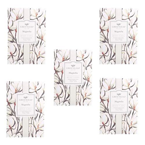 Greenleaf Magnolia Lot de 5 sachets parfumés pour tiroirs, 9 x 6 cm, parfums pour la maison