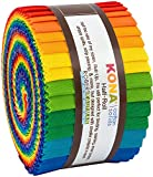 Kona Cotton Solids Bright Rainbow Half Roll 24 2.5-inch Strips Jelly Roll Robert Kaufman HR-156-24