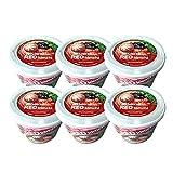 Nurea Udon Kimchi, Premium Fresh Udon Noodle Bowl, Not Fried, Korean Instant Udon Noodle Soup, (Pack of 6), 7.94 Oz