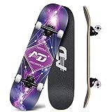LZY Skateboard Junior Skateboard Complet, Planche de Skateboard complète, PU Portable 4 Roues-Adulte Astuce Skateboard débutant, Enfants garçons Filles Cadeau Cadeau de Skateboard 31 x 8 Pouces