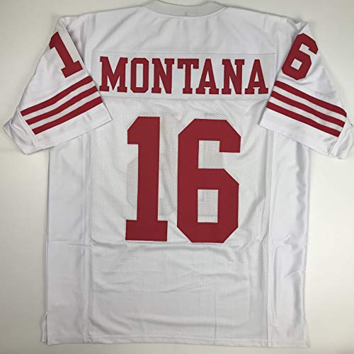 Unsigned Joe Montana San Francisco White Custom Stitched Football Jersey Size Men's XL New No Brands/Logos