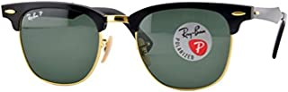 Bundle: Ray-Ban RB3507 Clubmaster Aluminum Black/Arista/Polar Green 51mm