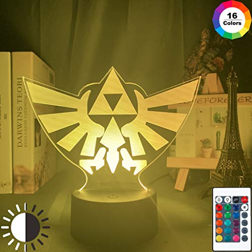 Spiel Die Legende von Zelda Triforce Coole Studie Event Preis Nachtlicht 3D LED Tischlampe Kinder Geburtstagsgeschenk Nachtzimmer Dekoration