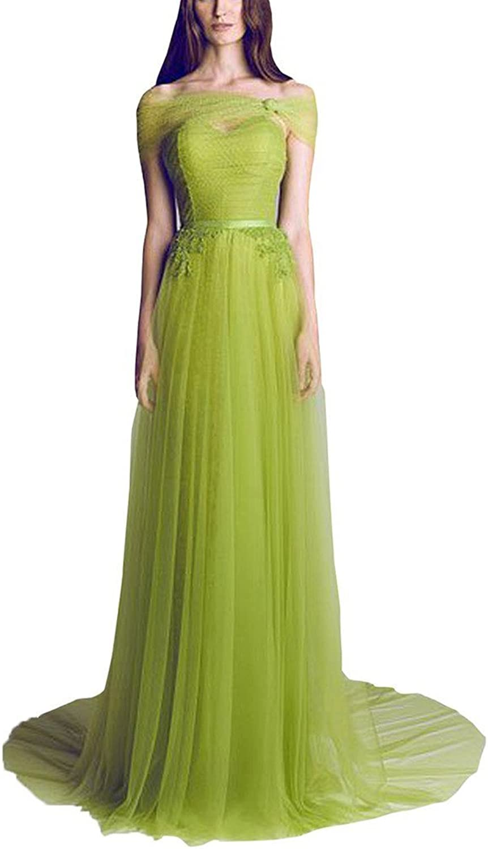 SecretCastle Women's Elegant Aline Tulle Long Bridesmaid Dresses Prom Dresses