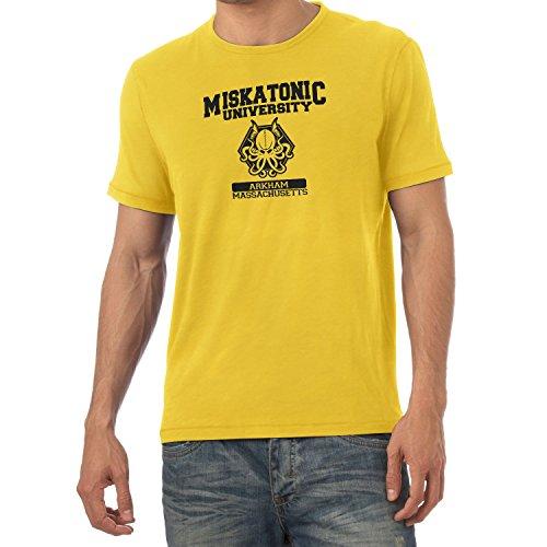 Texlab Herren Miskatonic University T-Shirt, Gelb, XXL