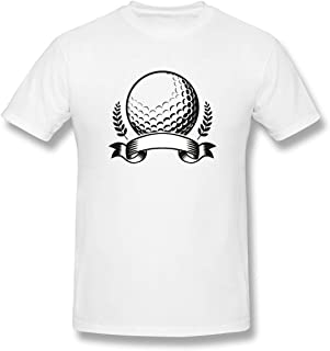 Donaldjchisholm Tee Golf Cotton Short Sleeve Spiritual White T Shirt for Men