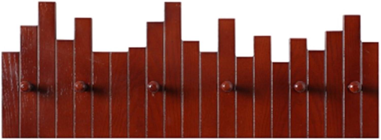 Coat Rack, Creative Hook Nordic Decorative Wall Hanging Wooden Rack Wall Hanging Hook Entrance Coat Rack Door Wall Key Hook 55  21.7cm Easy to Install