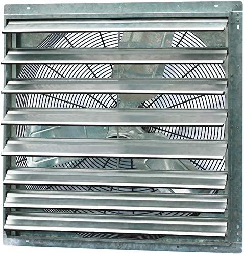 Iliving ILG8SF30S Single Speed Shutter Exhaust Fan, Wall-Mounted, 30, Silver