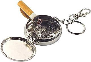 Aire Libre Mini Llavero Redondo del Cigarrillo Cenicero portátil de Bolsillo de aleación de Humo Cenicero Ceniza Llavero de la Moda Regard