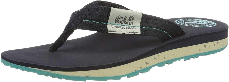 Jack Wolfskin Men's Flip Flop Sandals, Blue Dark Blue Light Blue 1179