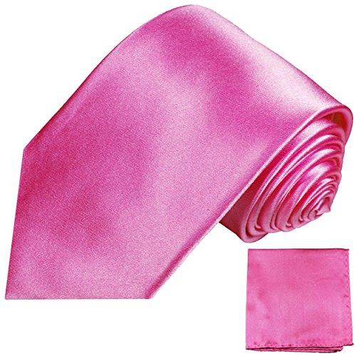 Cravate homme uni rose ensemble de cravate 2 Pièces ( 100% Soie Cravate + Mouchoir )