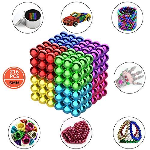 3T6B Pizarra magnética de 5 mm (216 pcs, 6 Colores ), Pizarra, Escultura de descompresión de Oficina, Rompecabezas de Color 3D para Adultos / niños