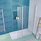 <span class='highlight'>ELEGANT</span> 900mm <span class='highlight'>Walk</span> <span class='highlight'>in</span> <span class='highlight'>Shower</span> Screen Glass Panel with 300mm Return Panel and 1400x800 mm <span class='highlight'>Shower</span> Tray, 1900mm Height,<span class='highlight'>8mm</span> Easy Clean Glass Wet Room Screen Panel <span class='highlight'>Enclosure</span>