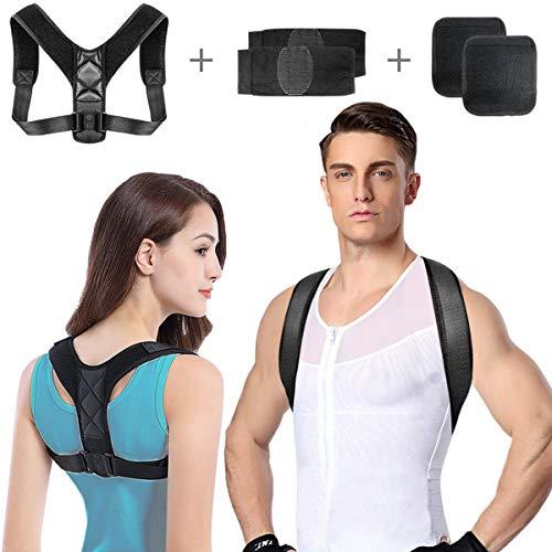 Geradehalter zur Haltungskorrektur,Rückenstütze Haltungstrainer für Damen und Herren,Schultergurt haltungskorrektur,Rückenstabilisator,Posture Corrector für Nacken Rücken Schulterschmerzen MEHRWEG