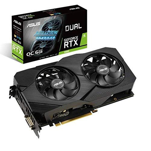 Asus Dual GeForce RTX 2060 OC Edition EVO 6GB GDDR6, Scheda Video Gaming con Dissipatore Biventola ad Alte Prestazioni per Gaming con Alti Refresh Rate e VR