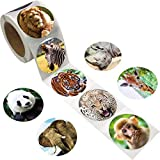 Fancy Land Realistischer Zootieraufkleber Safari Animal Jungle 200Stk. Pro Rolle für Kinder
