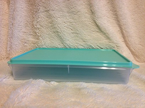 Tupperware Cold Cut Keeper / Snack Stor Large Container, Snow White / Mint Ice Cream Color