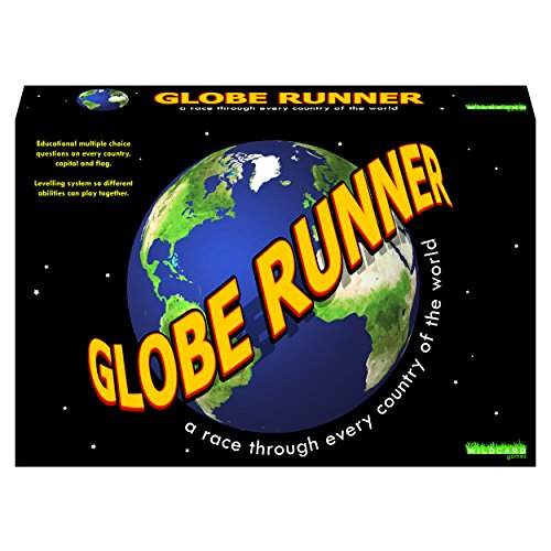 GLOBE RUNNER – Educational fun family board game for both kids and adults that races around the world through every country.