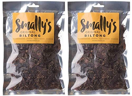 Smally's Biltong: Original, High Protein Rindfleisch Snack, Servierfertig, glutenfrei, 1kg (2 x 500g)