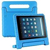 Kavon Funda para Kindle Fire HD8/HD8 Plus 2020 8 Pulgadas, EVA Ligera a Prueba de Golpes Soporte de Manija Convertible,Funda Protectora Tableta para Niños de 8 Pulgadas (Azul)
