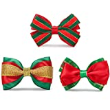 ZTON for Little Puppy, 3 Piece Handcrafted Adjustable Formal Pet Bowtie Collar Neck Tie for Dogs & Cats (S, Green)