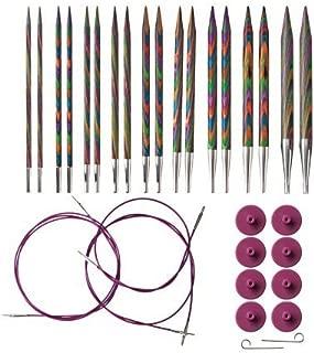 options interchangeable rainbow wood circular knitting needle set