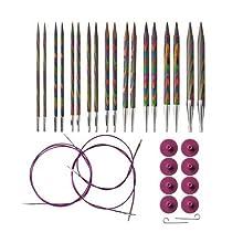 Knit Picks Options Wood Interchangeable Knitting Needle Set - US 4-11 (Rainbow)