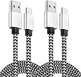 YOREPEK USB C Kabel [2 Pack 2M 3M] Schnellladekabel USB C Ladekabel Nylon Typ C Ladekabel USB A auf C Kabel Kompatibel für Samsung Galaxy S10 S9 S8 Plus Note 10 9 8, Xiaomi, Google Pixel, LG, HTC