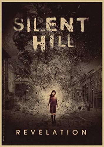 GaoDashan Póster de película clásica de Silent Hill Bar Café Sala de Estar Comedor Pinturas Decorativas de Pared 50x70 cm (19,68x27,55 in) A-1150