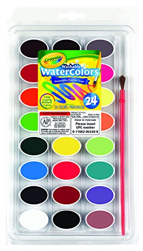 Crayola Washable Watercolors, Paint Set for Kids, Gift, 24 Count