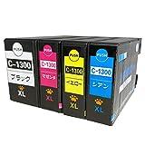 CANON キャノン PGI-1300XL (BK/C/M/Y) 全色大容量4色セット LED&残量表示可能ICチップ付 互換インクカートリッジ 最優良品質【ハニハニ製 1年サポート】
