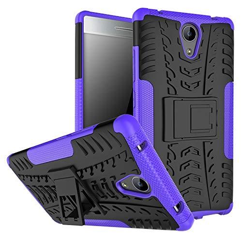 QiuKui For Lenovo Phab 2, TPU + PC Estuche Armor Móvil contraportada for Lenovo Phab 2 Phab2 (Color : Purple, Material : For Lenovo Phab 2)