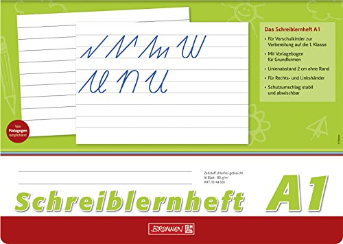 Brunnen 1044001 Schreiblernheft (A1, A4, quer, Lineatur A1, 16 Blatt)