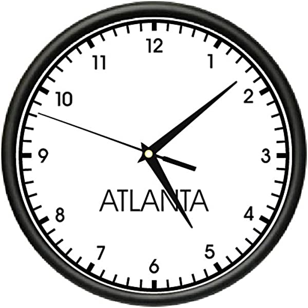 Atlanta TIME Wall Clock World Time Zone Clock Office Business