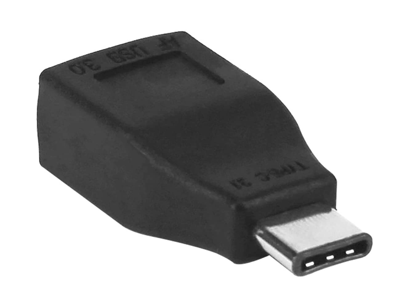 USB Type A to USB Type-C Adapter Converter Black Compatible with Alcatel 7