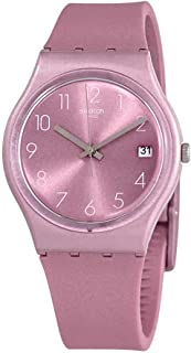 Swatch Womens Quartz Watch, Analog Display and Silicone Strap - GP404