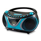 Metronic 477118 Radio / Lecteur CD / MP3 Portable Sportsman - Noir et Bleu