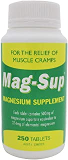 MAG-SUP Magnesium Supplement 250 Tablets