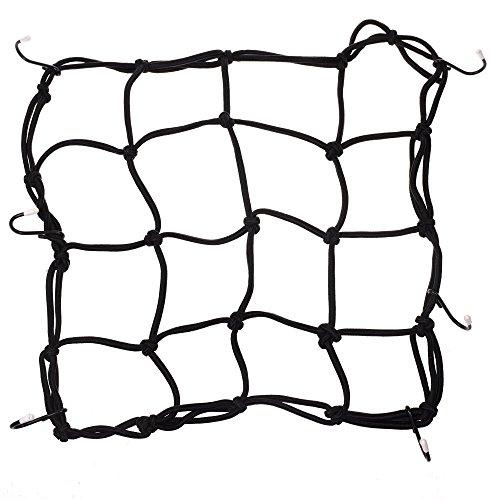 Cosmos® Schwarz Farbe 6Haken Fahrrad Motorrad Bungee Cargo Net, 30,5x 30,5cm