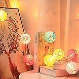 Lantern String Lights, 9.83FT 3Inch UL Listed Lantern Lights for Bedroom, TIGOMOOV Colorful Mini Lanterns Outdoor Hanging Lights for Patio,Home/Garden Decor, Outdoor Party Lights