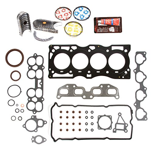 Evergreen Engine Rering Kit FSBRR3032EVE Compatible With 02-06 Nissan Altima Sentra 2.5 QR25DE Full Gasket Set, Standard Size Main Rod Bearings, Standard Size Piston Rings