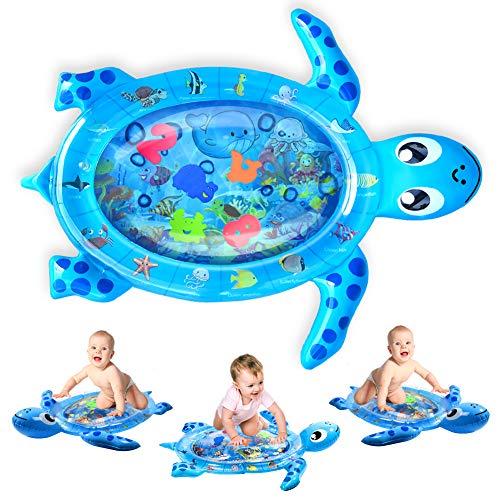 Kaome - Tappetino gonfiabile per bambini a forma di tartaruga, ideale per lo sviluppo precoce del neonato