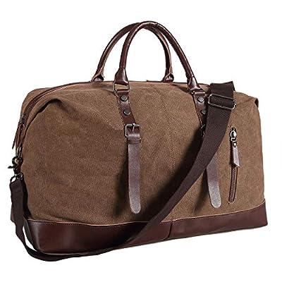 Amazon - Save 40%: Ulgoo Travel Duffel Bag Canvas Bag PU Leather Weekend Bag Overnight