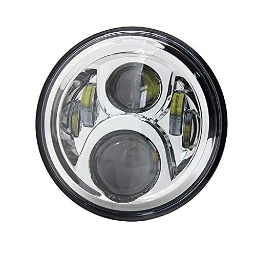 Chrome 7 Inch Motorcycle H4 Led Headlight Lamp With High&Low Beam For Honda Moto CB400 CB500 CB1300 For Hornet 250 600 900 (Color : Chrome)