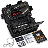 Gifts for Dad Husband Grandpa -Survival Kit 16 in 1-Fishing Camping Hunting Hiking Gifts Ideas for Him-Cool Gadget Survival Gear
